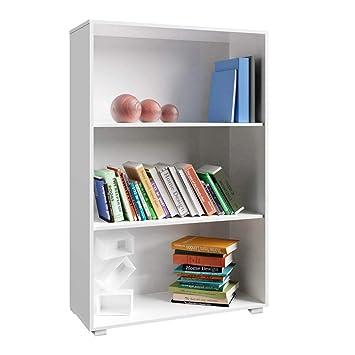 Pleasant Deuba Bookcase Vela Small Bookshelf Storage Unit Display Shelf Wooden 3 Shelves For Kitchen Living Room Bedroom White Download Free Architecture Designs Scobabritishbridgeorg