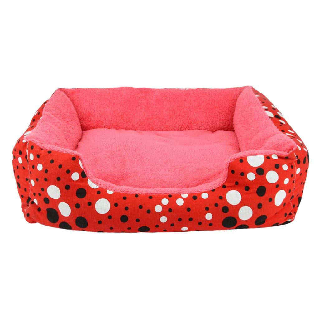 465612cm MIAOLIDP Kennel cat litter pet sofa nest dog bed mat nest Teddy VIP Satsuma dog nest mat Pet supplies (Size   46  56  12cm)