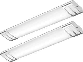 Faithsail 4ft Led Flush Mount Kitchen Light Fixtures 50w 5600lm 1 10v Dimmable 4000k 4 Foot Led Kitchen Lighting Fixtures Ceiling For Craft Room Laundry Fluorescent Replacement 2 Pack Amazon Ca Tools