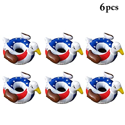 FunPa Drink Holder, Drink Floats Inflatable Creative Floating Cup Holder Party Float Coaster Beach Float for Summer Pool Party and Kids Fun Bath Toys: Toys & Games