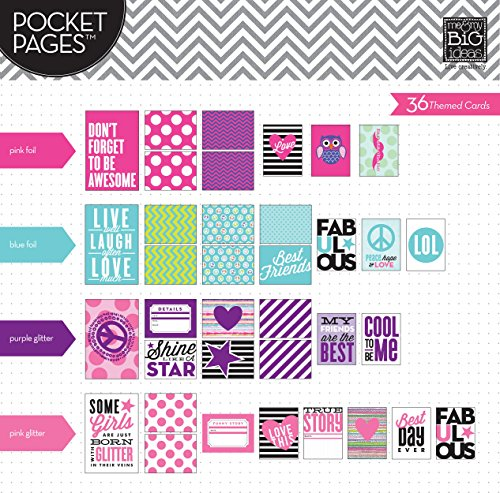 Me and My BIG Ideas Pocket Pages Pocket Card Tween Purple Heart