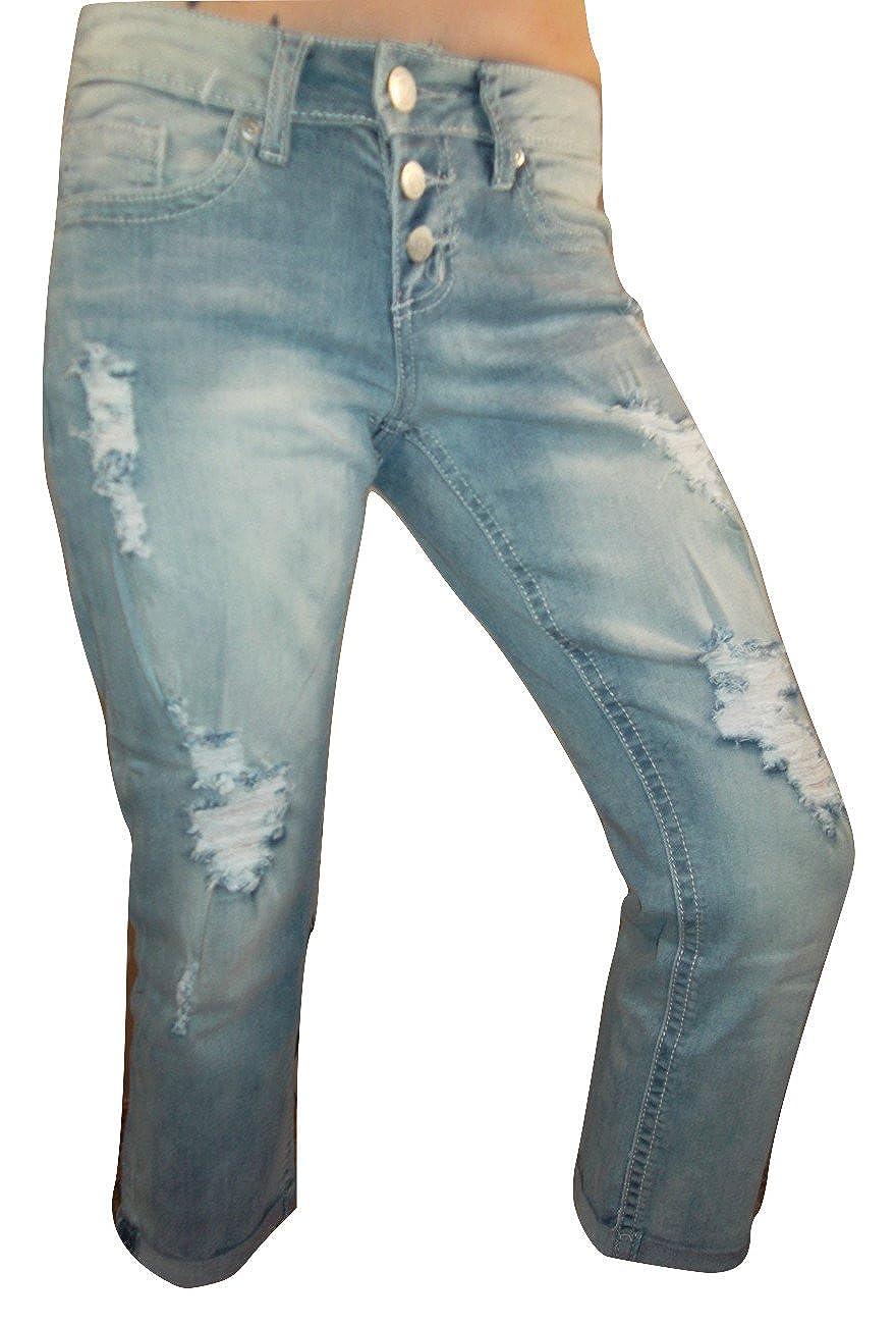 e7ed9e8635158b Juniors Premium Collection Vanity Crop Dakota Denim (27) at Amazon Women's  Jeans store