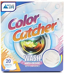 Skylarlife Color Catcher Anti Cloth Dyed Leaves Laundry Color Run Remove Sheet in Washing Machine Protect The Clothes, 20 Count