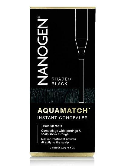 Nanogen Aquamatch - Corrector Capilar Resistente Al Agua, color Negro