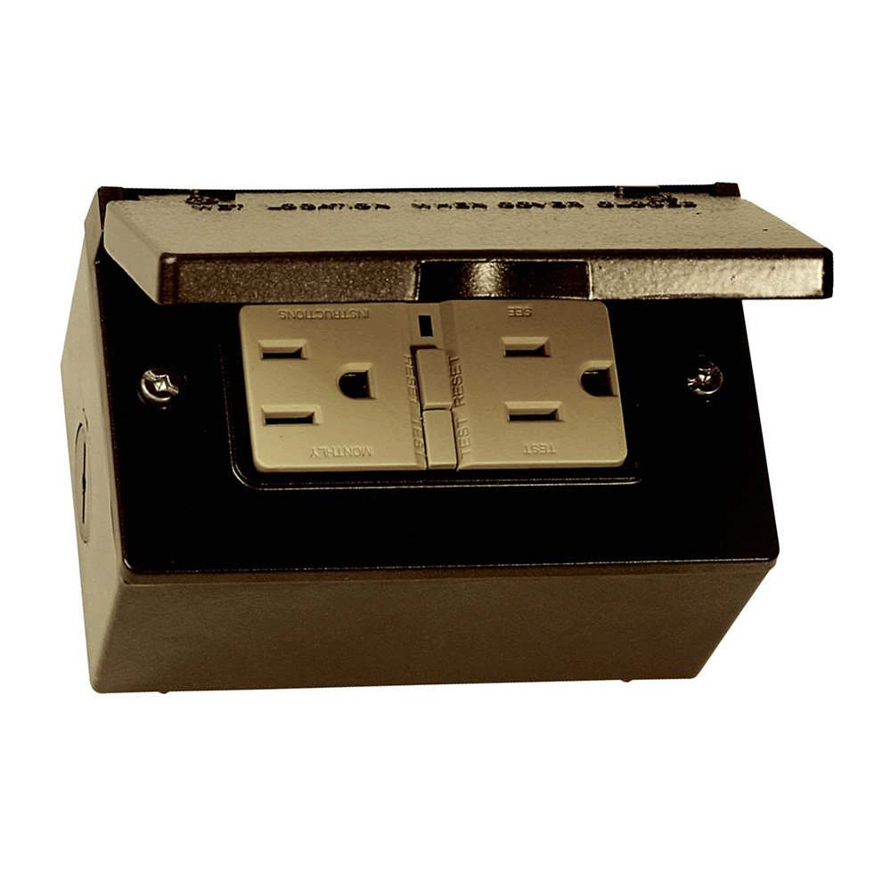 Sigma Electric 16449BR Kit of Rectangular Box, Cover and GFCI Receptacle, Bronze