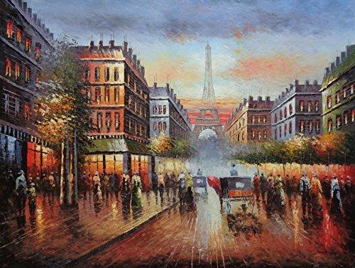 France Street Scene (Oil Painting 36