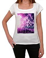 Ibiza Beach Sunrise T-shirt Femme,Blanc, t shirt femme,cadeau