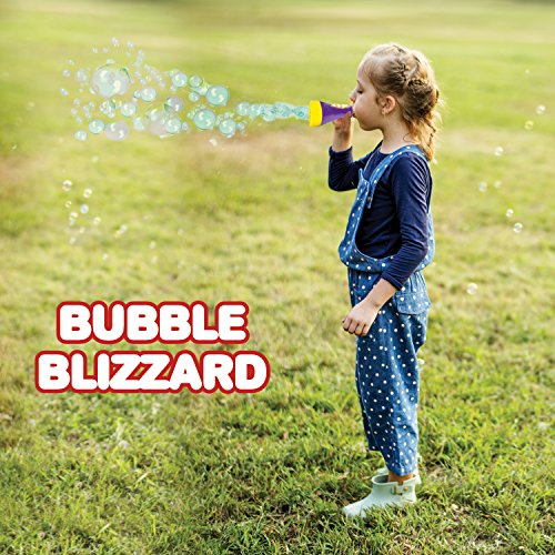 Mini Blizzard Bubble Blower Set by ArtCreativity - Set of 4 Bubble Blasters with 4 Bottles of Bubble Mixture | Vibrant Assortment of Color - Non-Toxic Plastic - Best Summer Toys for Boys & Girls