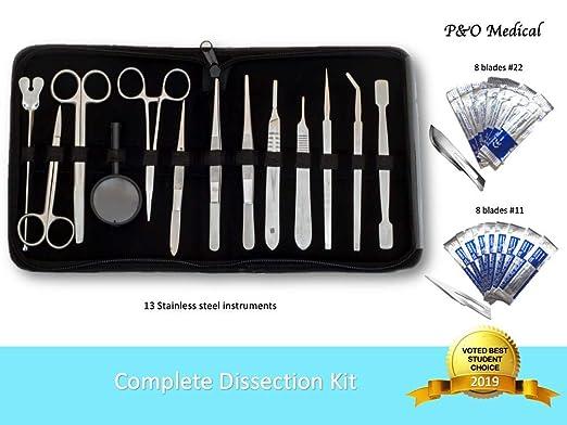 Dissection Pro Kit de disección | 29 Piezas de acero inoxidable para estudiantes de biología y veterinaria | Estuche avanzado: Amazon.es: Industria, empresas y ciencia