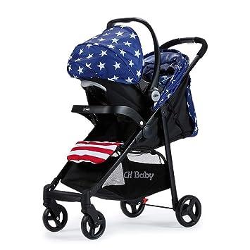 Olydmsky Carro Bebe,Puede Sentarse bebé Carro Paisaje Alto Plegable Coche de los niños Paraguas 95 * 50 * 104 cm: Amazon.es: Hogar