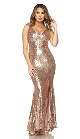 389b575ec0fae Image Unavailable. Image not available for. Color: Sequin Maxi Flared  Mermaid Tail Dress ...