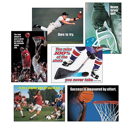 TREND Enterprises, Inc. T-A6685 Sports Motivating Argus Posters Combo Pack, 6 Pieces]()