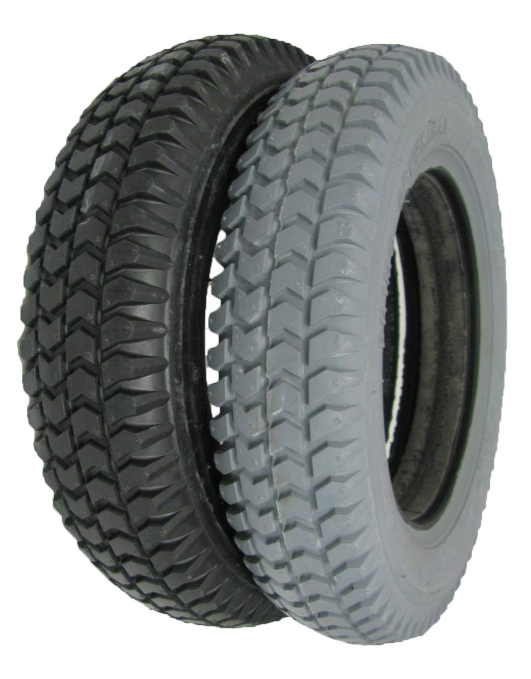 The Aftermarket Group Wheelchair Tire, Flat Free, Flat Tread, Grey, 14'' X 3'', TAG114291