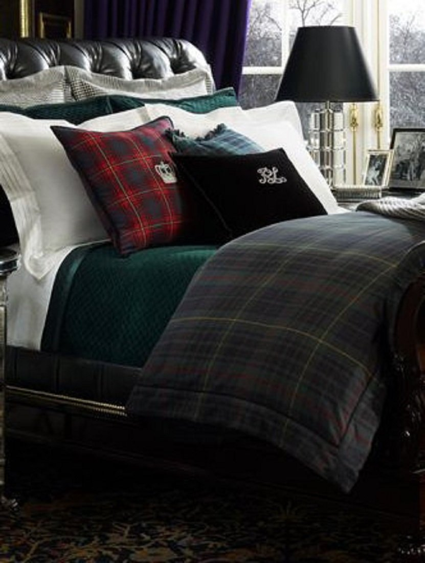 Ralph lauren plaid bedding - Amazon Com Ralph Lauren Home Duke Devonshire Green Blue Red Plaid King Duvet Cover 110 X 96 Home Kitchen