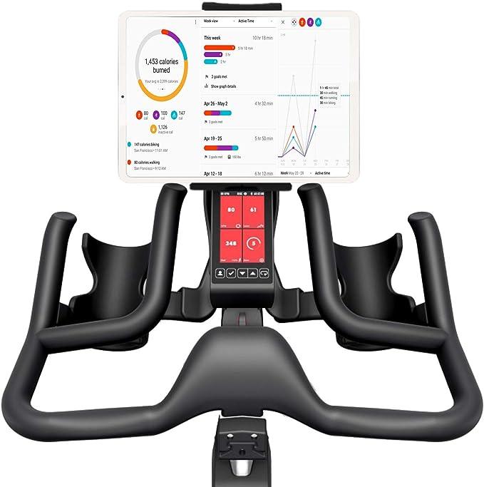 Marvorem Soporte Tablet Bicicleta estatica Compatible con iPad Universal valido Cualquier Manillar de Bici estatica Spinning eliptica Rodillo Soporte ...
