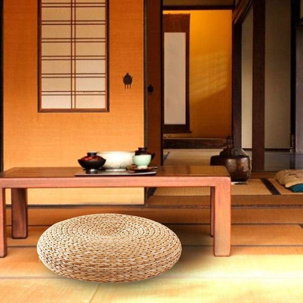 Succeedw Coussin Japonais en Tatami en Quenouilles Naturelles Coussin De Yoga Rondes /à La Main Coussin De M/éditation pour nimporte Quel D/écor