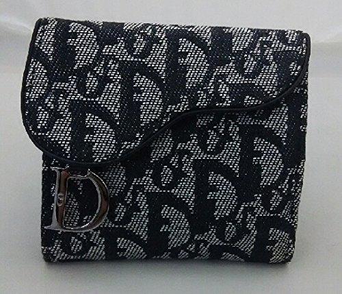 ディオール ロゴグラム 二つ折財布(ホック式小銭入れ付き) SLO43025