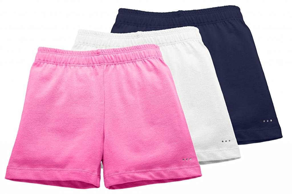 Sparkle Farms Big Girls Knit Cotton Playground Shorts Sizes 3-12 3-pack