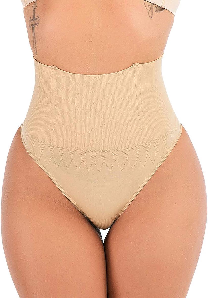 FLORATA Women Waist Cincher Girdle Tummy Control Thong Panty Slimmer Body Shaper