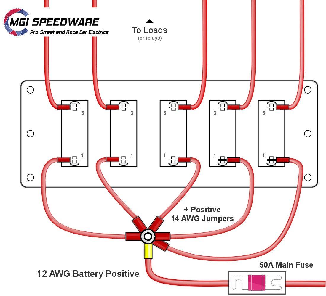 5 Gang Metal Toggle Switch Panel Wiring Kit For 12v Off Fuse Panelcar Diagram Page 408 Road Racing Atv Utv Jeep Marine Boat Carbon Fiber Automotive