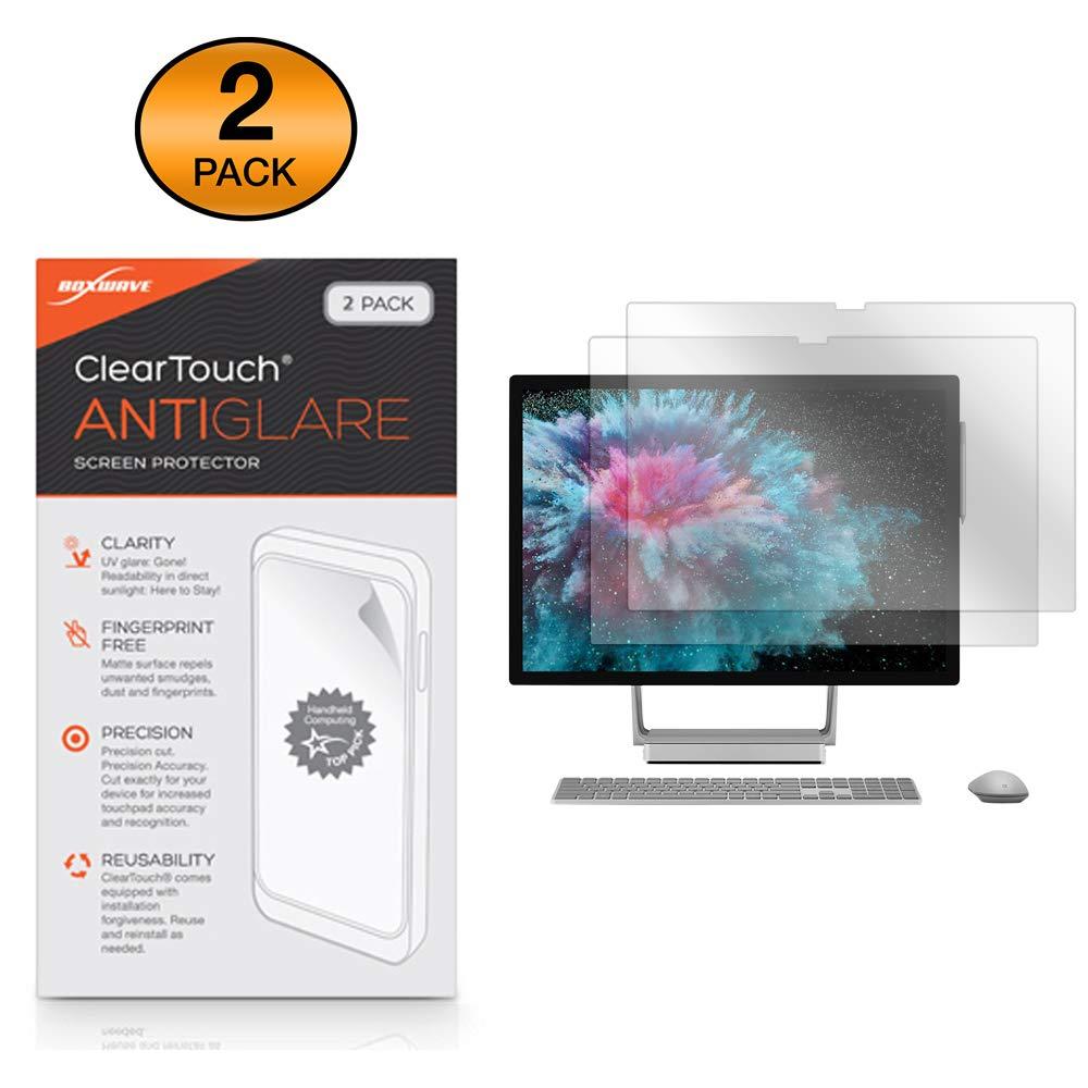 Microsoft Surface Studio 2 Screen Protector, BoxWave [ClearTouch Anti-Glare (2-Pack)] Anti-Fingerprint Matte Film Skin for Microsoft Surface Studio 2, Studio