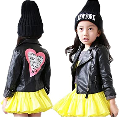 LJYH Spring New Baby Boys Girls Soft PU Leather Jacket Childrens Casual Coat