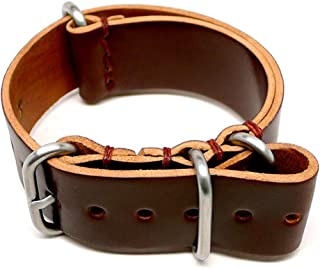 product image for DaLuca Shell Cordovan Military Watch Strap - Color 4 (Matte Buckle) : 24mm