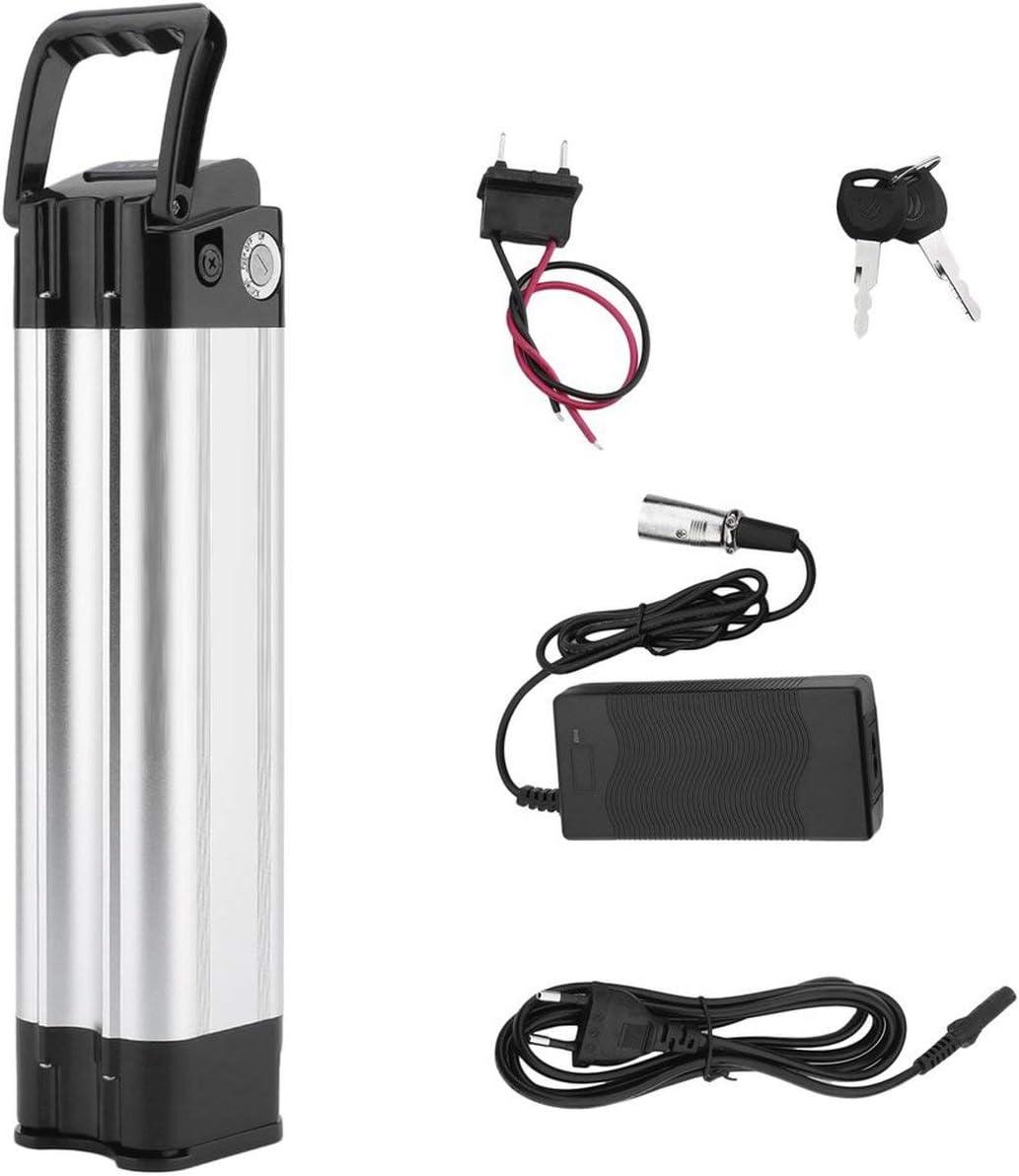 Pudincoco Batería de Bicicleta eléctrica de Alta Capacidad 24V 10.4Ah E-Bike Batería de Iones de Litio con Cargador Kit de conversión de Bicicleta eléctrica