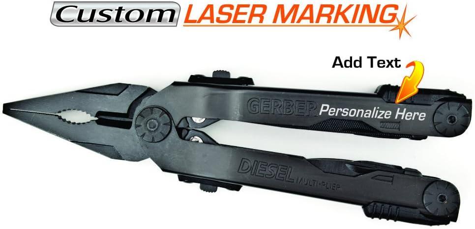 Custom Laser Engraved Gerber Diesel Multi Tool Black with Sheath