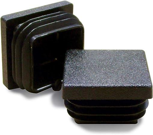25 mm x 25 mm Insert du Tube en plastique Tube d/'obturation d/'embouts 8 pièces