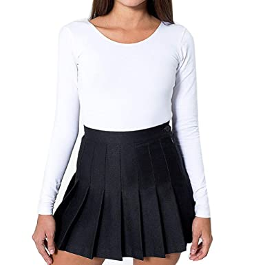 6899c2f9ab Delaisus Women Tennis Pleated Mini Skirt School Girl Skater Skirt Shorts  Culotte