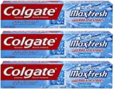 Colgate Max Fresh Fluoride Gel Toothpaste, with Mini Breath Strips, Cool Mint, 7.8 Ounces (Pack of 3)