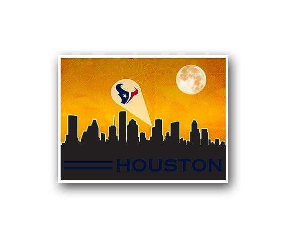 Houston Texans Man Cave Decor : Amazon houston texans poster sports art city skyline print