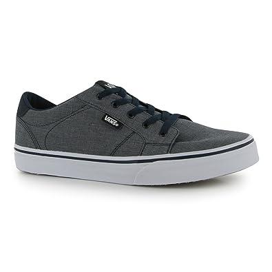 4a0c8f152851c0 Vans Boy s Bishop Slip On (Chambray) Blue White Skateboarding Shoes  VN000ZCUFA8 (US