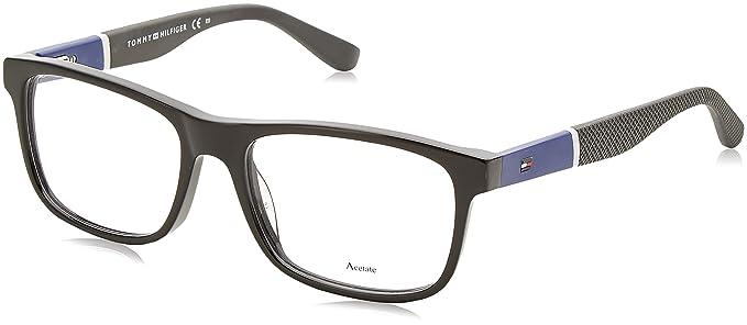 9377609672ca2 Tommy Hilfiger 1282 Eyeglasses 0FMV Black Blue 52 mm at Amazon Men s ...