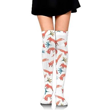 d69b14e208f Light Venus Pink Fox Womens Ladies Cotton Long Tube Knee High Socks at  Amazon Women s Clothing store