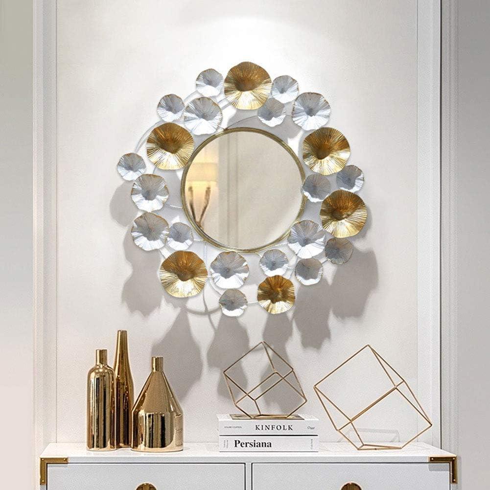 Specchio Da Parete Decorativo Rotondo Dorato Specchio Europeo Da Appendere A Forma Di Foglia Di Tartaruga Arredamento Ingresso Teleelsalvador Com