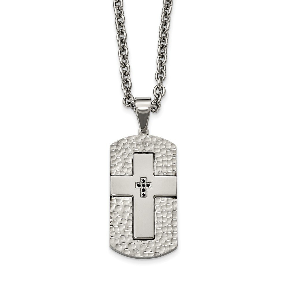 Jewelry Stores Network Sterling Silver Cross CZ Pendant