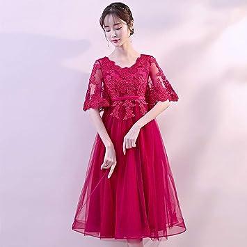 TY-ER Las Mujeres Embarazadas Vestido Rojo de Gran Tamaño Vestido de Novia de Cintura