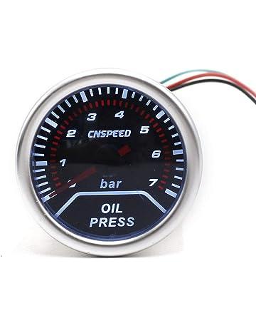 CNSPEED 12V 0-7 Bar Auto Car LED Medidor de presión de aceite digital Medidor