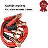 OAN High Performance Car Heavy Duty Jumper Cable Leads Battery Booster For All Cars (800 Amp)