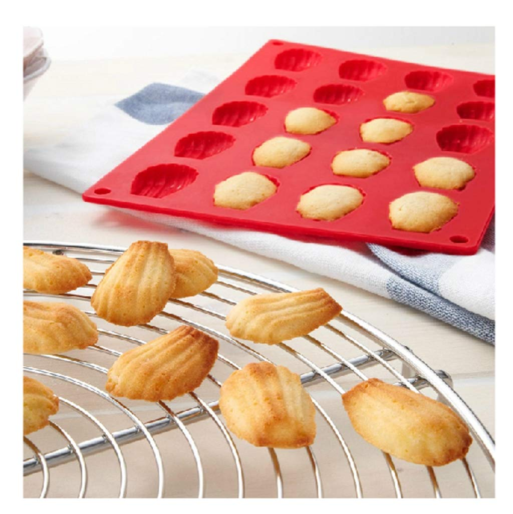 DIY Silicone Madeleine Mold Candy Jelly Bread Pudding Ice Mold Biscuit Chocolate Mousse Bakeware Tools Mould 20 Holds