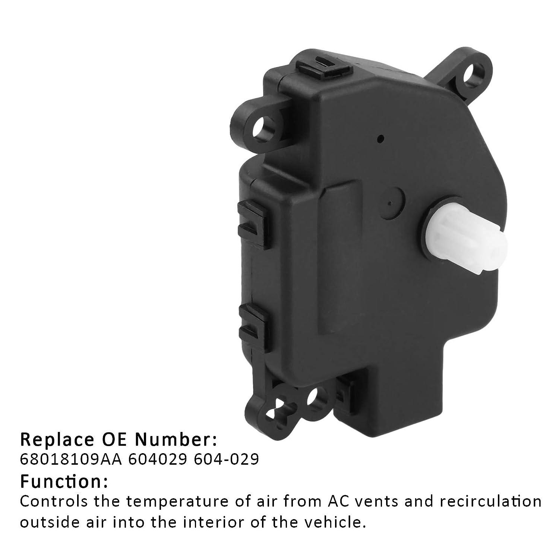 604-029 HVAC Heater Air Blend Door Actuator Replaces # 68018109AA 604029 Fit for Chrysler 200 Cirrus Aspen Sebring Dodge Avenger Caliber Durango Journey Jeep Patriot Compass Wrangler Ram ProMaster