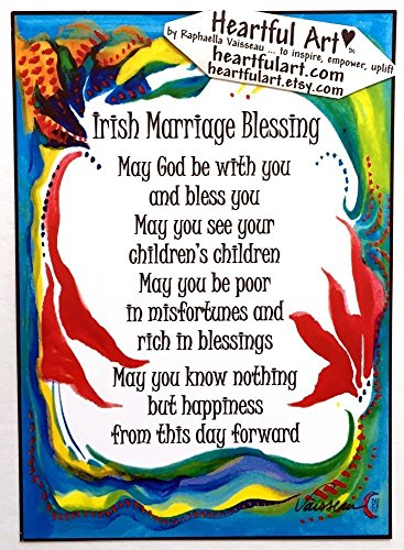 (Irish Marriage Blessing 5x7 poster - Heartful Art by Raphaella Vaisseau)