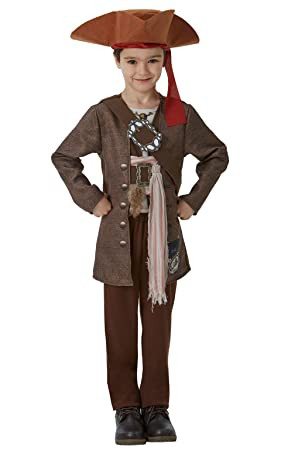 Rubieu0027s Official Disney Pirates of the Caribbean Jack Sparrow Childs Deluxe Costume Medium 5-  sc 1 st  Amazon UK & Rubieu0027s Official Disney Pirates of the Caribbean Jack Sparrow Childs ...