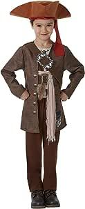 Piratas del Caribe - Disfraz de Jack Sparrow para niños, infantil 5-6 años (Rubie's 630788-M)