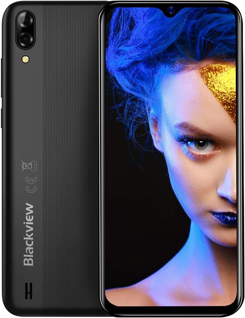 Blackview A60 Teléfono Móvil, Android 8.1 Smartphone Dual SIM con Pantalla 6.1-Inch Water-Drop Screen, 13MP+2MP+5MP, 16GB ROM (SD 128GB), 4080mAh Batería Smartphone Libre -Negro: Amazon.es: Electrónica