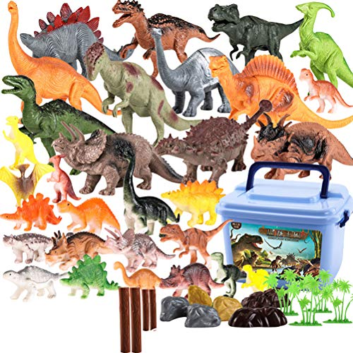 TOYMYTOY 공룡 장난감 공룡 모형 가장 큰 공룡 모형 작은 동물 공룡 알 육 식 공룡 어린이 장난감 아동 완구 선물 생일 44 개 (공룡 세트) / TOYMYTOY Dinosaur Toy Dinosaur Model Simulation Large Dinosaur Model Small Animal Dinosaur Egg Tyra...