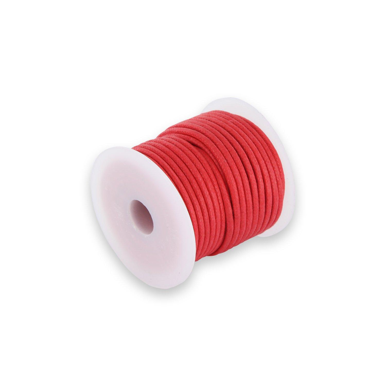 Rot Auroris 10m Rolle Baumwollband Rund 2mm Farbe