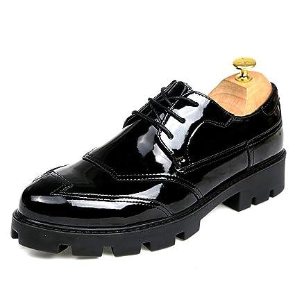 Fang-shoes, 2018 Zapatos Hombre, Zapatos de Brogue convencionales y de Charol para